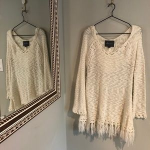 Paper Crane   Ivory, Loose Knit Sweater